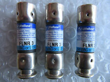 (3) Littelfuse FLNR3 Fuses 3 Amps 250 Volts Bussmann FRN-R-3 NEW!! Free Shipping