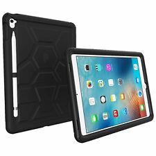 Poetic Turtle Skin Rugged Silicone Case for iPad Pro 9.7 with Pencil Holder BLK
