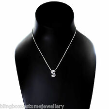 Oasis Silver Plated Necklace Crystal Letter S Pendant Design New