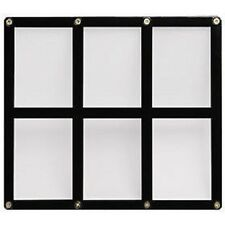 Ultra Pro 4-Screw 6-Card Black Border Screwdown Card Holder Recessed Ultra Clear