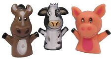 Farm Animal Finger Puppets - Set of 12 Barnyard Puppet Party Favors!