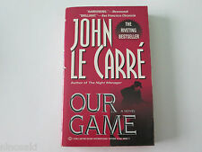 JOHN LE CARRE - OUR GAME - USED PAPERBACK - VERY GOOD CONDITION