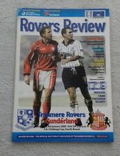 541) Tranmere Rovers v Sunderland  programme fa cup 4th rnd 8-1-2000
