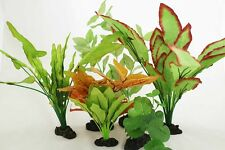Aquarium Plants for Plastic Tank Silk COMBO B(9)