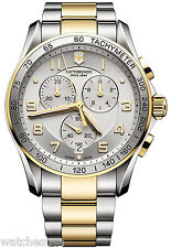 Victorinox 241687 Swiss Army Silver Dial Stainless Steel Chronograph Men's Watch