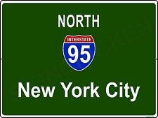 Mini Interstate Road Sign - New York - I95 NEW YORK CITY - ALUMINUM SIGN, 9 X 12