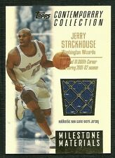 JERRY STACKHOUSE 03-04 TOPPS CONTEMPORY COLLECTION MILESTONE GAME WORN JERSEY