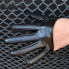 HOT Women's Faux Leather Sexy Half Five Finger Half Palm Party Gloves Mittens
