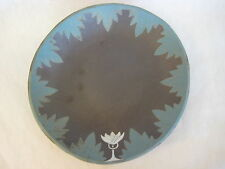 """Hand Crafted/Painted Art Pottery Bowl Plate Signed By Kate Gibson, 11"""" X 11 1/2"""""""