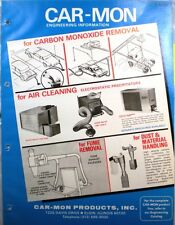 CAR-MON Exhaust Collector System TRANSITE ASBESTOS 1979