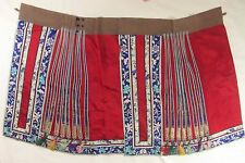 Beautiful Antique Chinese Hand-Embroidered Silk Satin Skirt
