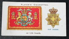 Life Guards  British Cavalry  Vintage Regimental Insignia Card # VGC