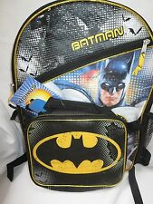 Batman Backpack and lunch bag kit and batman tumbler cup Set of 3