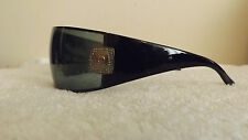 PIERRE CARDIN LADIES SUNGLASSES PC8692S BLACK WRAP SILVER LOGO DIAMANTE AROUND