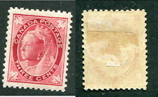 Mint Canada 3 Cent Queen Victoria Leaf Stamp #69 (Lot #9147)
