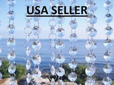 20 FT Glass Crystal Garland Diamond Clear Chandelier Hanging Wedding Decoration
