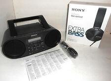 Sony ZS-RS60BT CD-R/RW,Boombox with Bluetooth BUNDLE + MDRXB450AP HEADPHONES