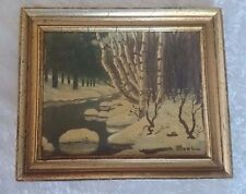 HARRY HAMBRO HOWE New England Snow Scene OIL SIGNED LISTED Artist!