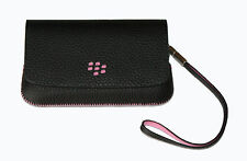 100% Genuine Blackberry Torch 9800 9810 Leather Folio Custodia con Specchio & Cinturino