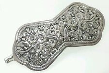 Victorian Style  Small Daisy Sterling Silver 925 Hair Pin Barrette