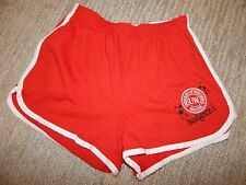 Soffe WISCONSIN BADGERS Red w/ White Trim Sport Shorts Women's Large