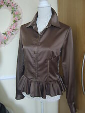 Just Cavalli Stunning Blouse Size 42/ Colour Taupe (Authentic)