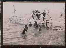 Seine Maritime, Fécamp. Les baigneurs, 1899 Vintage citrate print. Normandie.