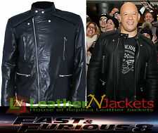 Fast & the Furious 8 Vin Diesel Dominic Toretto Premiere Leather Jacket.