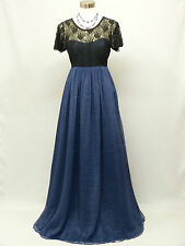 Cherlone Blue Short Sleeve Maternity Ballgown Wedding Bridesmaid Formal Dress 16