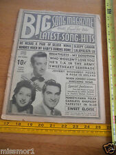 1942 Big Song mag V2. #8 Harry James Big Crosby Polka Johnny comes marching home