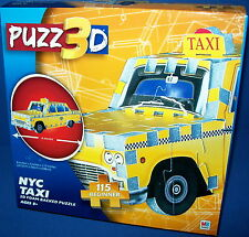 PUZZ 3D PUZZLE Beginner - NYC NEW YORK TAXI CAB    NISB NEW  115 piece Age 8+