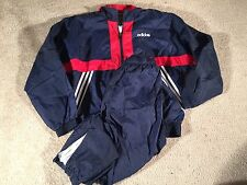 Vintage Adidas Navy Red Windbreaker Suit - Sz. M
