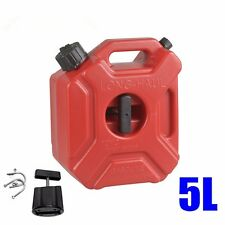 Red Atv 5 Liter Fuel Tank Cans Petrol Tanks Mount Motorcycle Car Oil Container