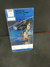 NCAA- NOTRE DAME IRISH VS. NAVY MIDSHIPMEN 11/4/1989- TROPHY STUB
