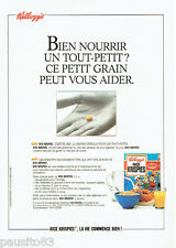 PUBLICITE ADVERTISING 1016  1990   Kellog's   les céréales Rice Krispies