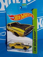 Hot Wheels 2014 Workshop Performance #242 '71 Dodge Challenger Hotchkis Yellow