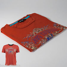 Designer Just Cavalli Men Tee Shirt Fitted Top Loose Bottom Muscle Fit XL New