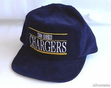 SAN DIEGO CHARGERS Vintage Hat 80's Snapback Cap NFL FOOTBALL Corduroy