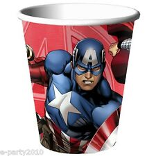 AVENGERS ASSEMBLE 9oz PAPER CUPS (8) ~ Birthday Party Supplies Captain America