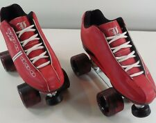 Labeda Voodoo U3 Red sunlite twister quad speed roller skates sz 7 normally $239