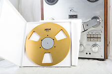 "New!  AKAI gold 10.5"" inch Metal Reels for 1/4"" tape- Mint Condition"