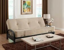 Metal Futon Frame Modern Full Size Sofa Bed Sleeper Couch Free Shipping No Tax