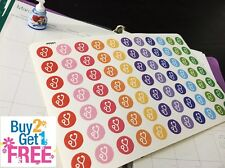 PP051 -- Small Doctor Reminder Planner Die-cut Stickers for Erin Condren (77pcs)