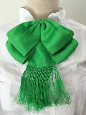 Mexican Charro Moño Doble Bow Tie Bright Green Verde Limon Handcrafted