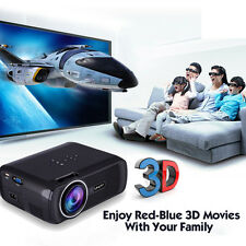 7000 lumens HD Cine en casa Multimedia LED Vídeo proyector 1080p 3d HDMI TV VGA