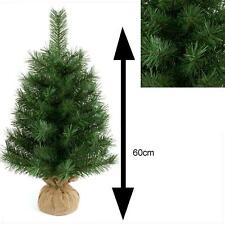 60cm Table Top Christmas Tree with Burlap Base Indoor Use - TR200B