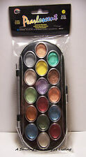 16 Color Pearlescent Watercolor Paint Set  Add Shimmer to Stamping & Art Collage