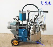 Milker Electric Piston Milking Machine For Cows Bucket Farm New