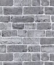 Rasch Portfolio Wallpaper 217346 - Feature Wall Faux Brick Stone Wall Grey