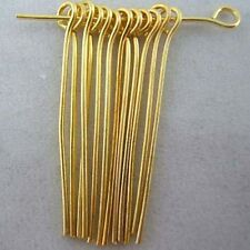 Silver/Gold Plated Eye Pins Needles Jewelry Findings 20/25/30/35/40/50mm
